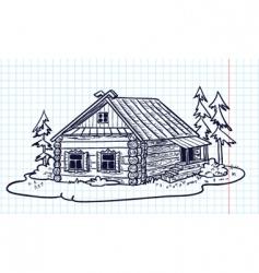 Russian hut vector image