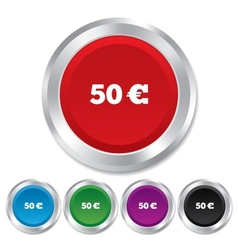 50 Euro sign icon EUR currency symbol vector