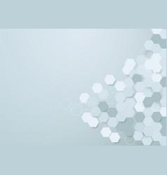 Abstract hexagons background vector