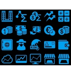 Accounting service and trade business icon set vector image