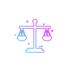 balance risk analysis risk evaluation scale icon vector image