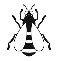 Bee icon simple style vector