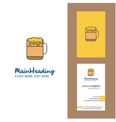 beer creative logo and business card vertical vector image