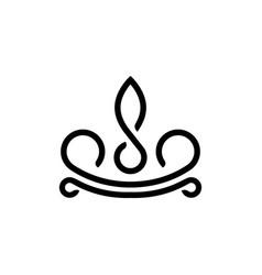 black crown elegant logo design template vector image