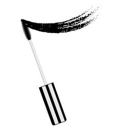 black mascara brush with smear vector image