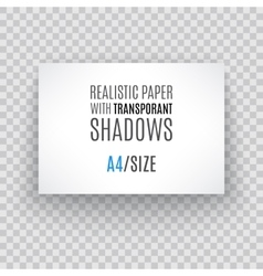 blank sheet paper with page curl and shadow vector image