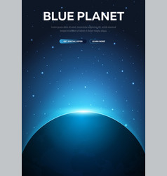 blue planet earth astronomical galaxy space vector image
