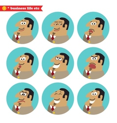 Boss facial emotions vector