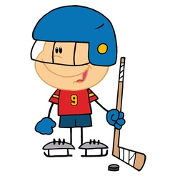 Boy Playing Hockey Goalie vector