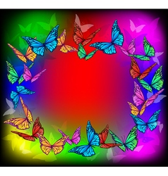 Bright butterfly frame vector
