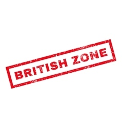 British Zone Rubber Stamp vector