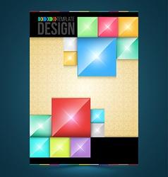 Brochure cover design rectangles Templates vector image