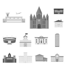 building repair monochrome icons in set collection vector image