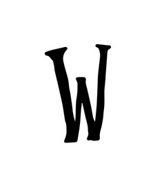 bumpy elongated font capital letter uneven font vector image