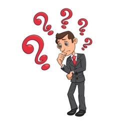 Businessman is looking for solution 4 vector image