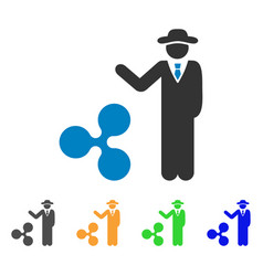 Businessman show ripple icon vector