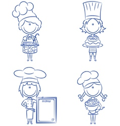cartoon chefs vector image
