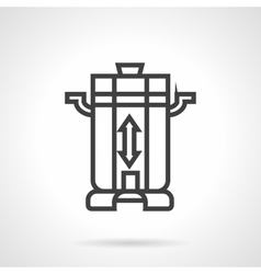 Coffee beans grinder black line icon vector