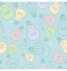 Colorful light bulbs seamless pattern background vector image