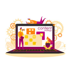 content plan vector image