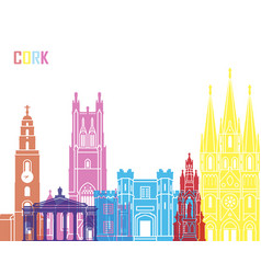 Cork skyline pop vector