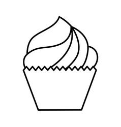 delicious cupcake isolated icon design vector image