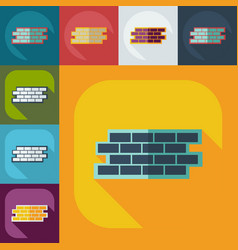 Flat modern design with shadow icons wall vector