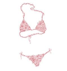 Floral bikini vector image