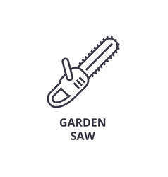 garden saw line icon outline sign linear symbol vector image