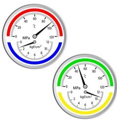gas manometer vector image