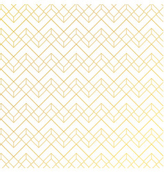 gold geometric pattern with lines on white blue vector image