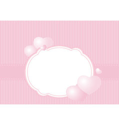 greeting card on a pink background vector image