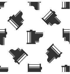 grey camera vintage film roll cartridge icon vector image
