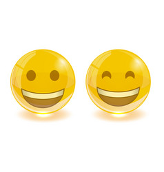 group of smiley emoticons emoji vector image vector image