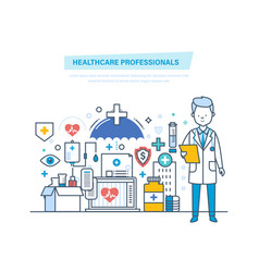 healthcare medical professionals medical doctor vector image
