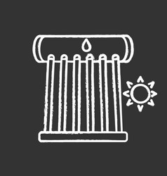 industrial solar water heater chalk icon vector image