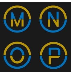 Letter logo set vector