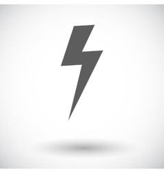 Lightning single icon vector