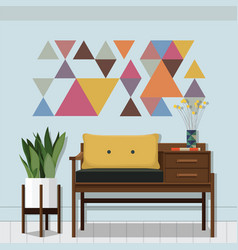 living room inspiration vector image vector image