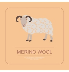 Logotype of merino wool vector image