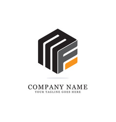 m f initial logo designs f creative logo vector image