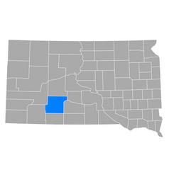 Map jackson in south dakota vector