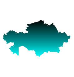 Map of kazakhstan vector