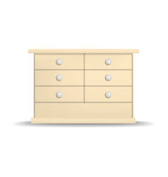 modern drawer mockup realistic style vector image