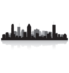 Montreal Canada city skyline silhouette vector image