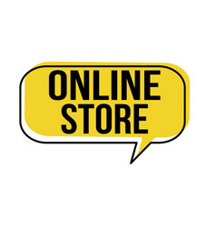 online store speech bubble vector image