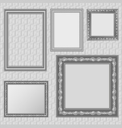 Picture frames set vector