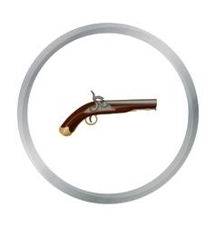 Pistol icon in cartoon style isolated on white vector