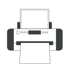 printer isolated electronic device documents vector image