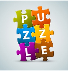 puzzle lettering vector image